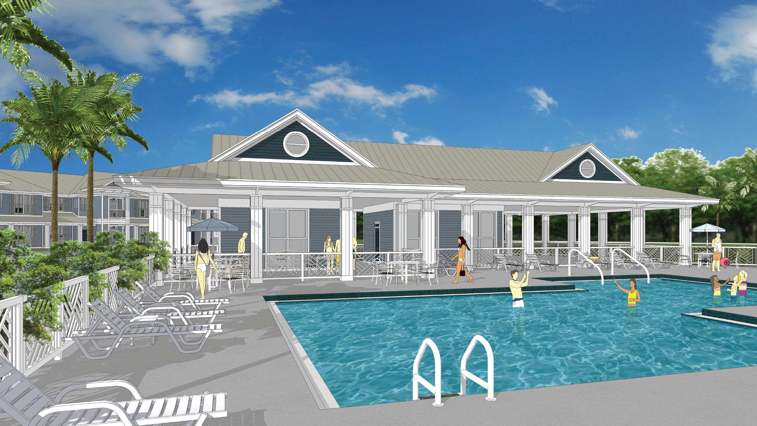 Bergamot clubhouse rendering